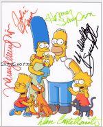 Автографы: Симпсоны (The Simpsons) 4 подписи.